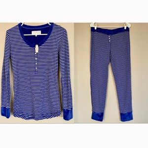 Victoria's Secret | Blue Striped Pajama Set